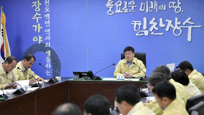 월례조회 '장수형 생활 속 거리두기' 담화 발표